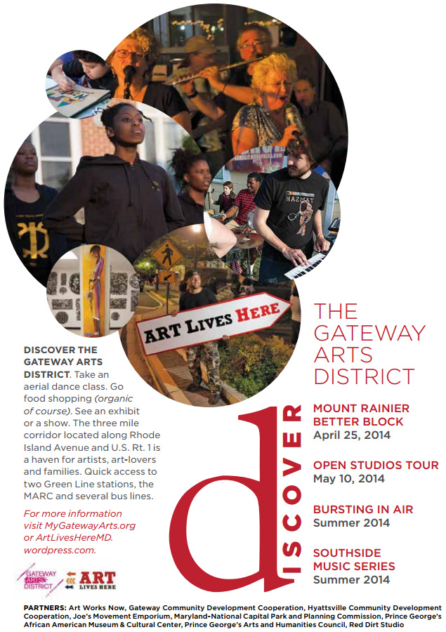 Discover the Arts... (Art Lives Here Advertisement in East City Art Spring 2014 Quarterly)